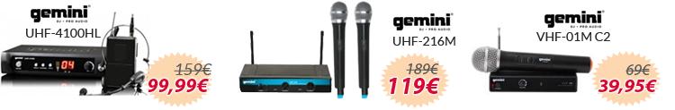 Conjunto microfono inalambrico gemini oferta