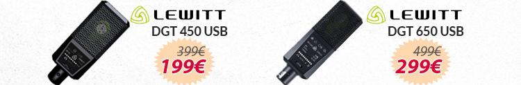 Lewitt dgt 450 y 650 USB promocion