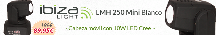 Ibiza light lmh 250 mini cree blanco promo