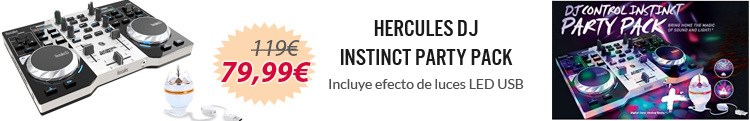 hercules dj instinct party pack oferta
