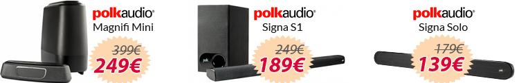 Barras de sonido oferta polk