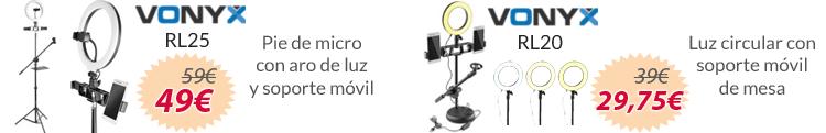 soportes con luz circular para movil mejor precio oferta